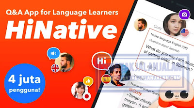 aplikasi belajar bahasa asing hinative