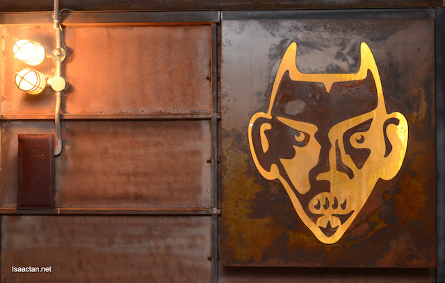 Interesting devil logo, depicting the Casillero del Diablo brand