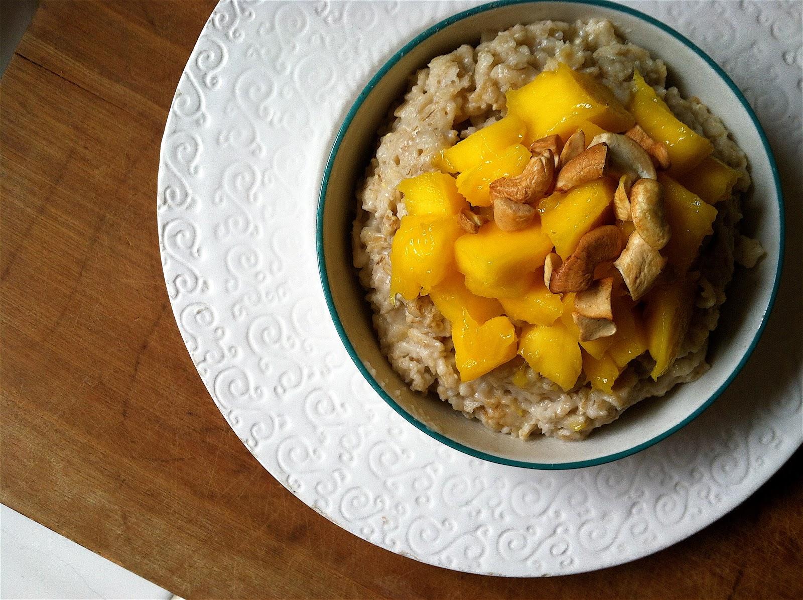 Diana Takes A Bite Sticky Mango Oatmeal Make Your Own