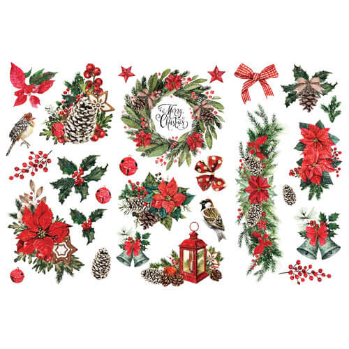 Photo of Redesign With Prima Classic Christmas decor transfer.