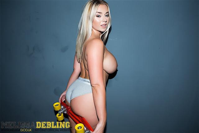 Melissa Debling big boobs skater girl side naked boobs board on ass
