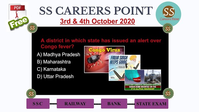 3rd & 4th October 2020 CURRENT AFFAIRS
