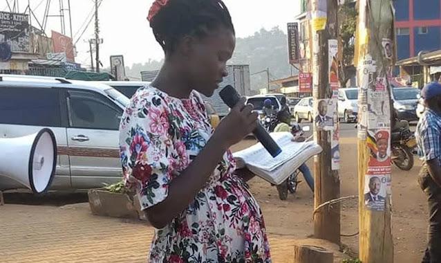 Mesmo grávida, evangelista prega nas ruas de Uganda: 'Não temos desculpas'