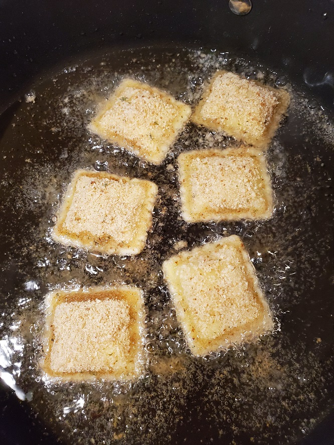 these are fried ravioli in oil frying