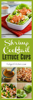 Shrimp Cocktail Lettuce Cups found on KalynsKitchen.com