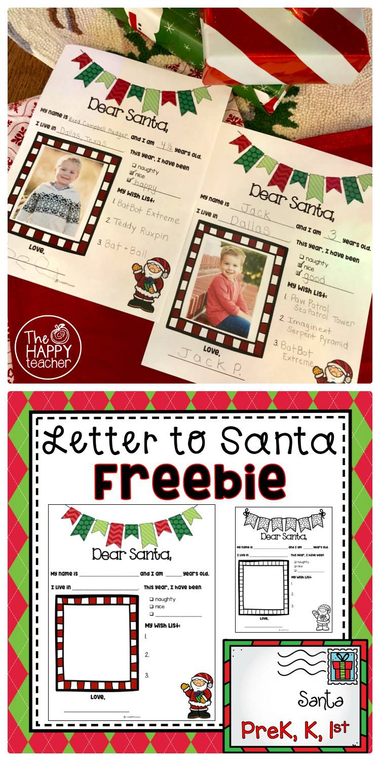 Thehappyteacher letter to santa free printable letter to santa free printable template december writing activity spiritdancerdesigns Images