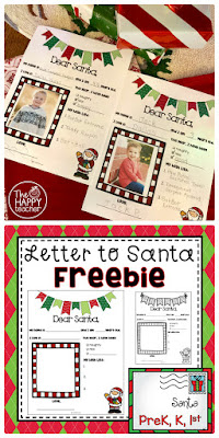 Letter to Santa FREE printable template: December writing activity