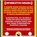 O Paraíba informa que suas lojas estarão fechadas no sábado, obedecendo ao Decreto estadual.