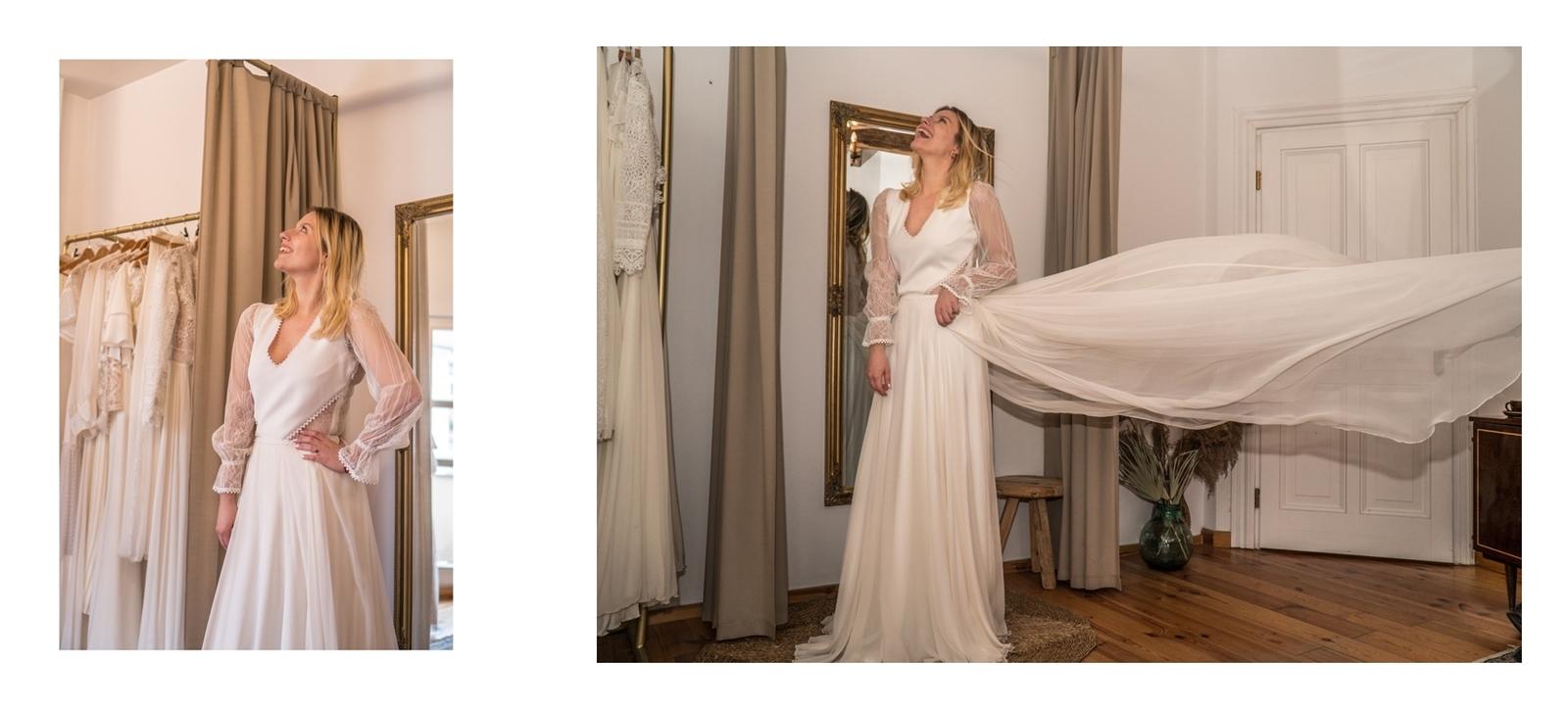 20 suknia ślubna ecru falbany folk sukienka ślubna figura jabłko fason a falbana fasony