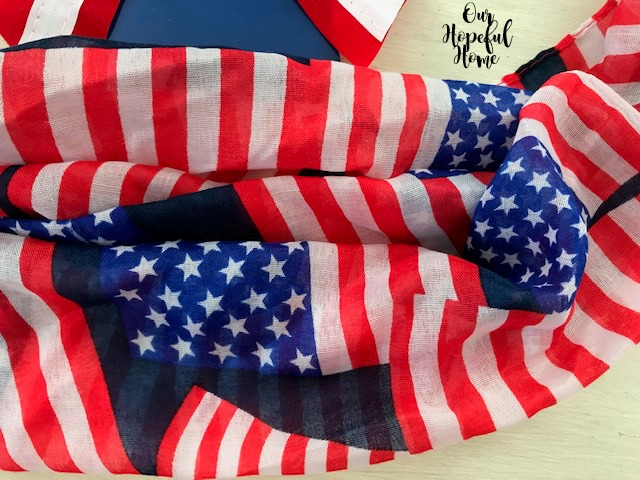 American flag red white and blue patriotic scarf material