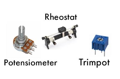 Potensiometer, Trimpot atau Trimmer Potensiometer, Rheostat