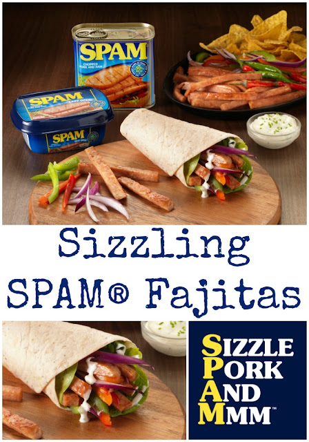 www.foodiequine.co.uk Sizzling SPAM® fajitas are the perfect showcase for the iconic meat in a tin. Chopped Pork and Ham brings Sizzle Pork And Mmm™ to any meal. Easy SPAM recipes for breakfast, lunch and dinner.