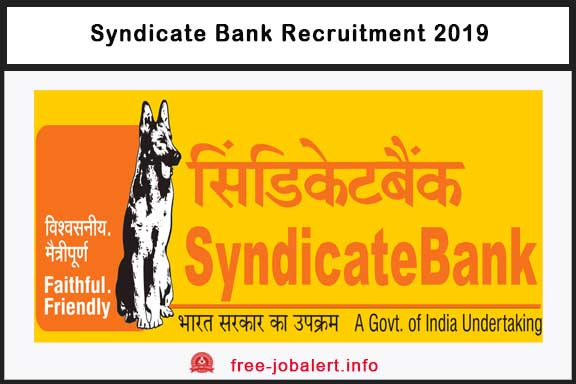 Syndicate Bank Recruitment 2019: Application invited for the posts of Specialist Officer
