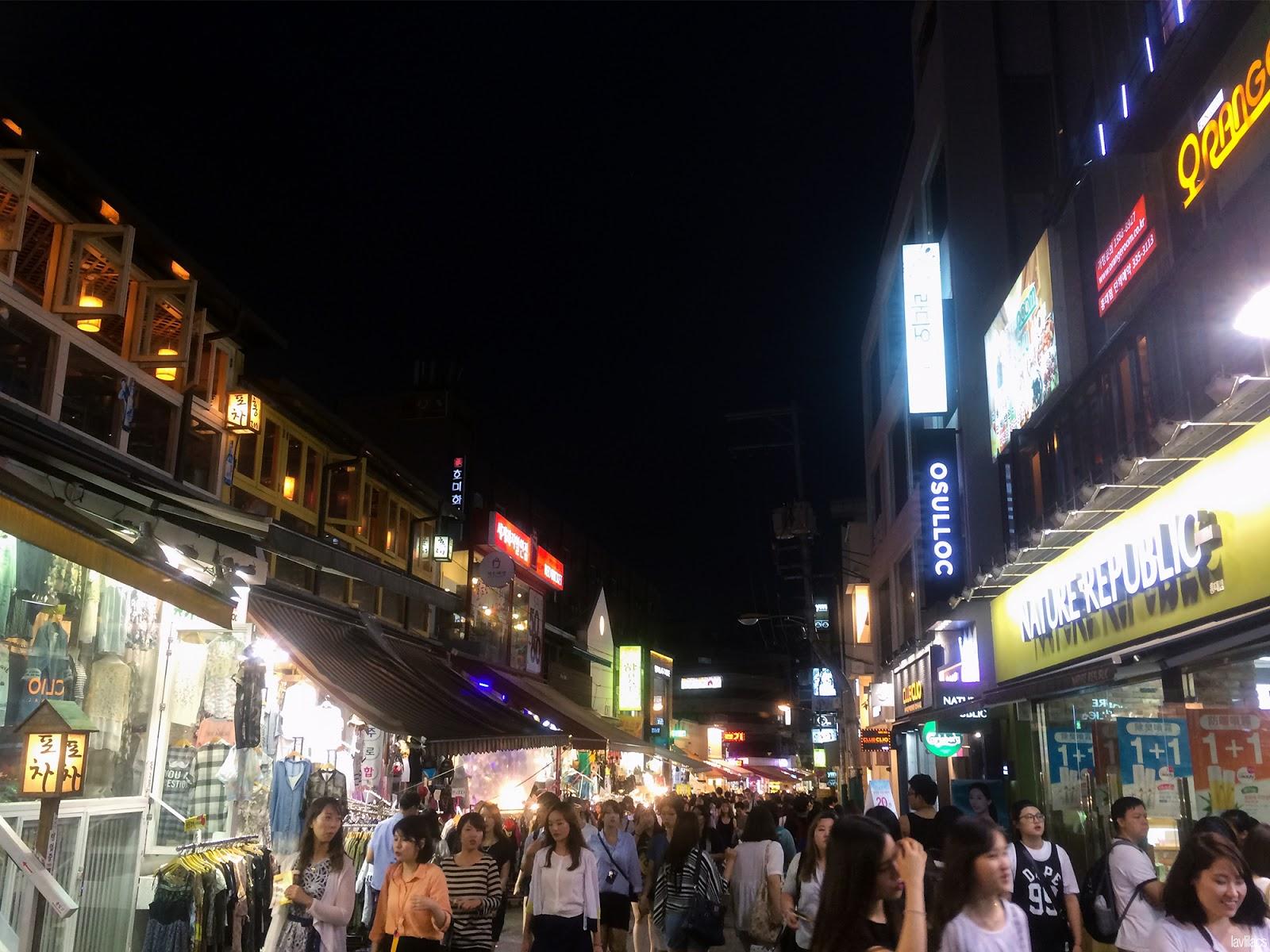 Seoul, Korea - Summer Study Abroad 2014 - Hongdae at night