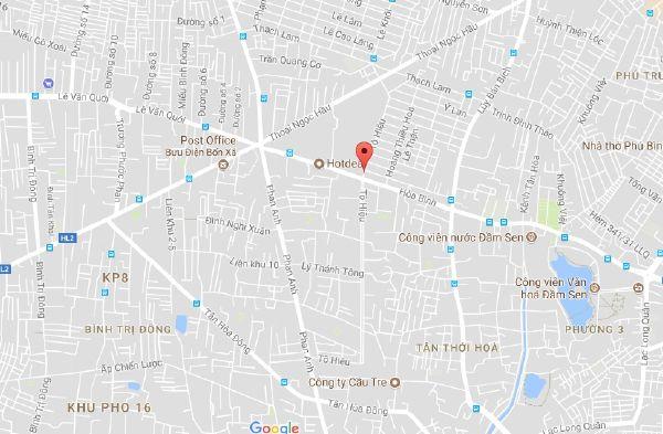 Bán đất quận Tân Phú đường Tô Hiệu phường Hiệp Tân