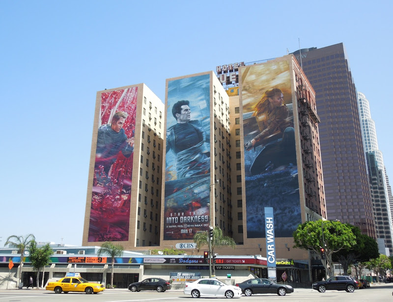 Giant Star Trek Into Darkness billboards Downtown LA