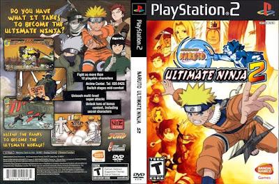 Jogo Naruto Ultimate Ninja 2 PS2 DVD Capa