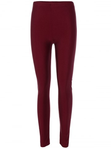 Burgundy leggins