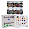 24-Color Oil Paint Set - 24 x 12 ml / 0.4 oz - Oil Paint Kit For Artists and Beginners