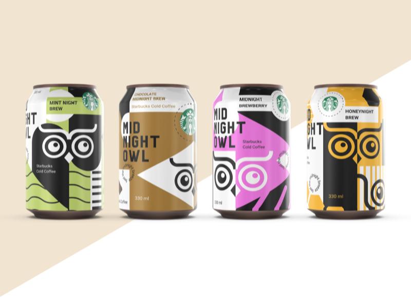 Midnight Owl : Starbucks X Sustainable Packaging