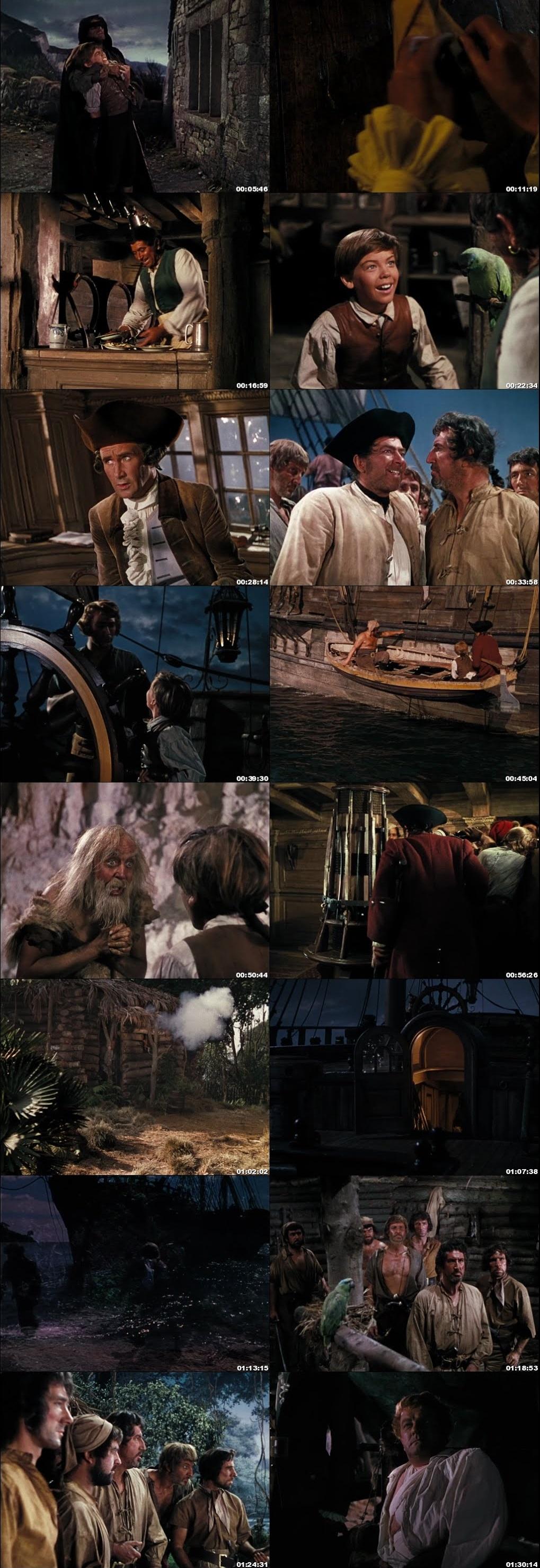 Screen Shot Of Treasure Island 1950 In Hindi English Dual Audio Bluray