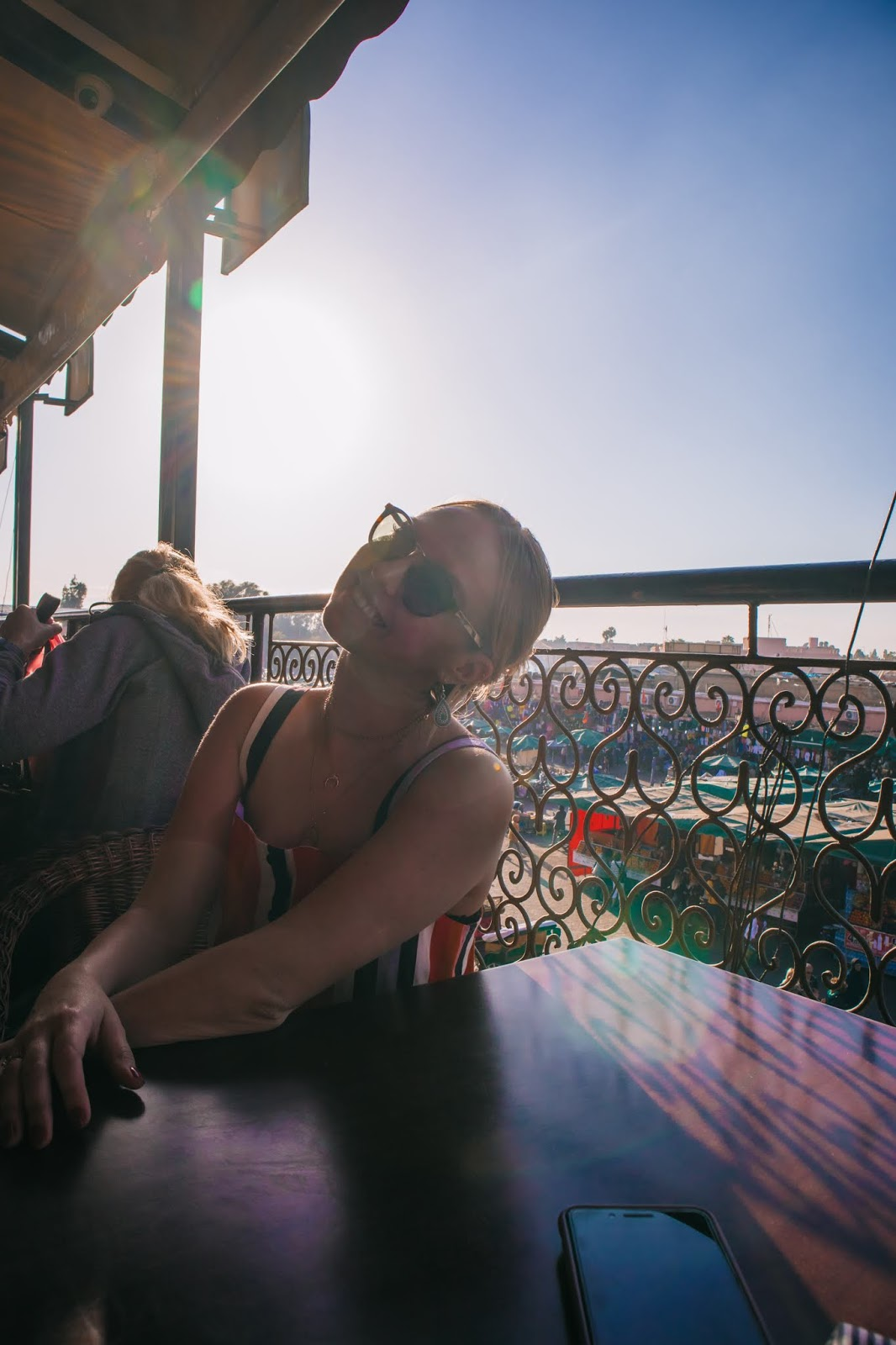Suz and the Sun, Suz and the Sun travel, Marrakesh 2018, Marrakesh travel, Suz and the Sun style, Cafe de France, Cafe de France sunset, Jemaa El-Fnaa square, Jemaa El-Fnaa Square sunset