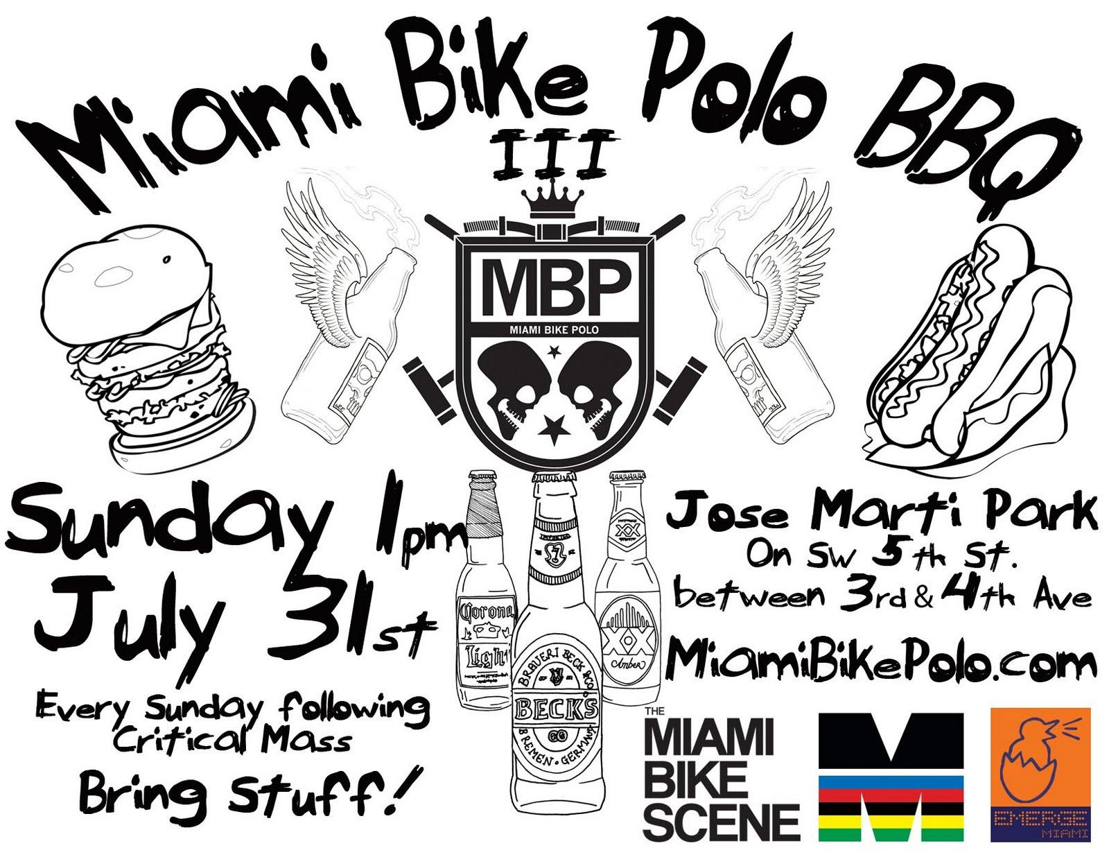 Miami Bike Polo Bbq