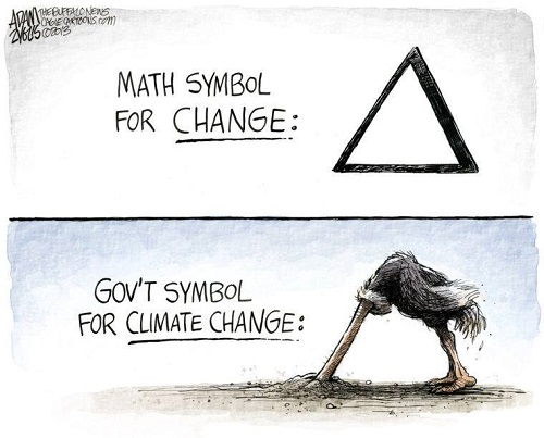 Toon of the Week - Math Symbol for Change / Gov't Symbol for Climate Change (Credit: www.facebook.com/iheartcomsci)