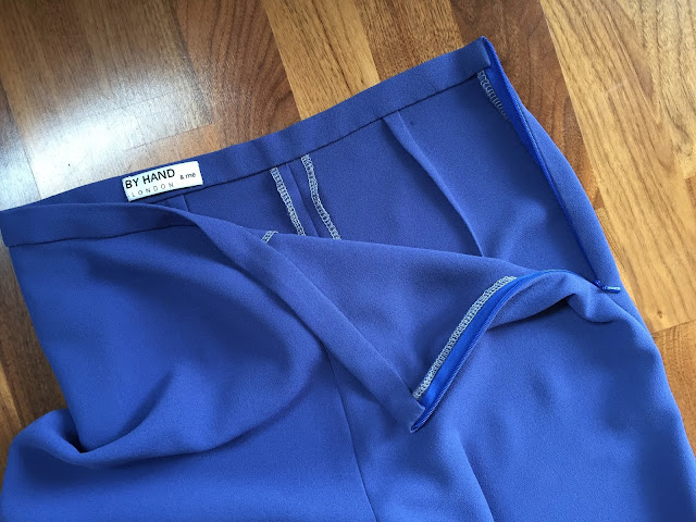 Diary of a Chain Stitcher: By Hand London Holly Trousers in Cornflower Crepe from Sew Over It