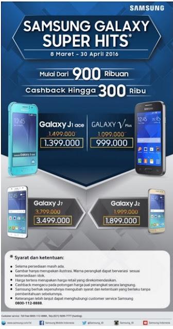 Promo Harga HP Samsung Galaxy Super Hits Mulai dari 900 Ribuan Tambah Cashback Sampai dengan 300 Ribu-an