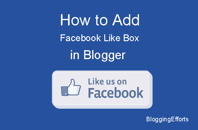 Add Facebook Like Box in Blogger