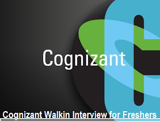 Cognizant Campus Drive for Freshers On 10th December 2016