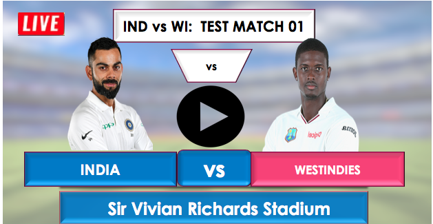 India vs WestIndies: Test match number 1, India is batting first