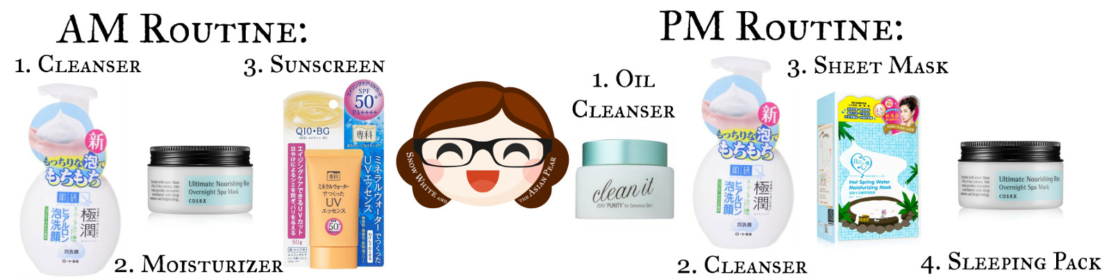 Korean beauty products, Japanese beauty products, and Taiwanese beauty products for dry skin