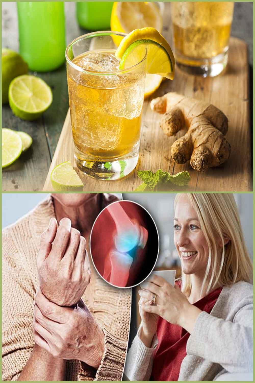 Boisson au gingembre pour soulager la douleur, les migraines et l'inflammation