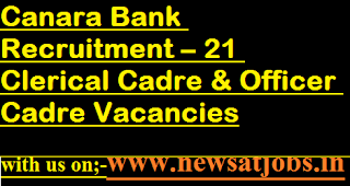 Canara-Bank-jobs-21-Clerical-Officer-Cadre-Vacancies