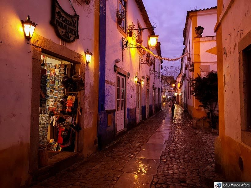 Entardecer em Óbidos, Portugal