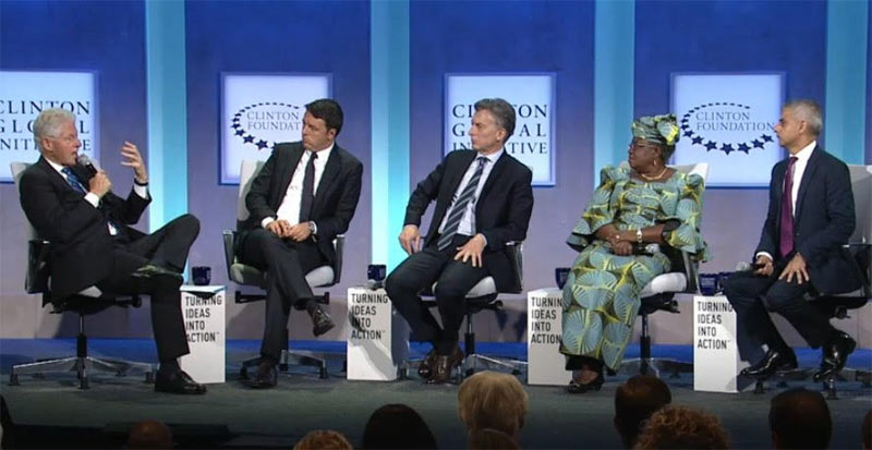 Fmr Finance minister Okonjo-Iweala with world leaders at Clinton Global Initiative