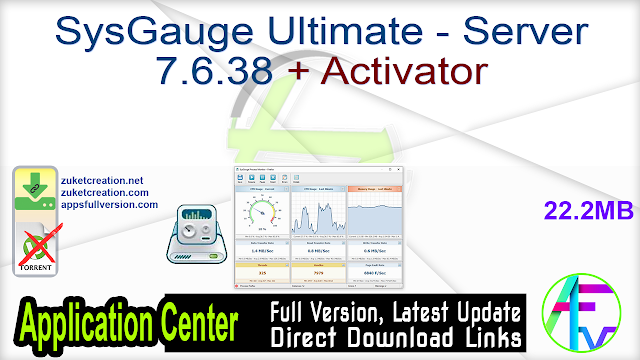 SysGauge Ultimate – Server 7.6.38 + Activator