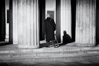 the shadow man - street photography
