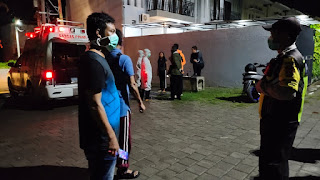 Kabur dari RS HK, Bule Asal Bulgaria Status PDP Covid19 Dikembalikan Polsek Senggigi ke Ruang Isolasi