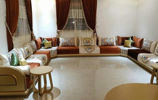 Nouveaux salons  moderne marocains 2021- deco-salon marocain 2021