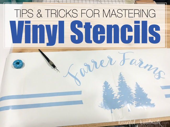 Make Vinyl Stencils for Wood Signs with Your Silhouette