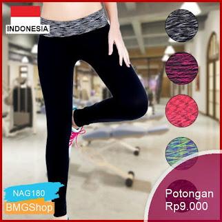 NAG180 Celana Wanita Sport Ketat Quick Dry Yoga Fitness Bmgshop