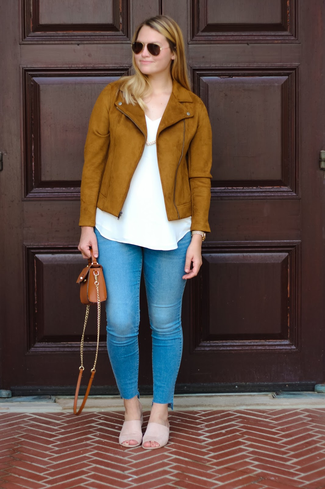 5a71d34909 The Fall Suede Jacket You Need  Under  50!  Old Navy Sueded-Knit Moto Jacket  for Women ...