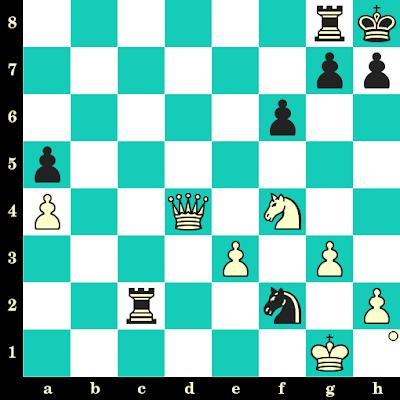 Les Blancs jouent et matent en 2 coups - Rafael Vaganian vs Viktor Korchnoi, Moscou, 1975