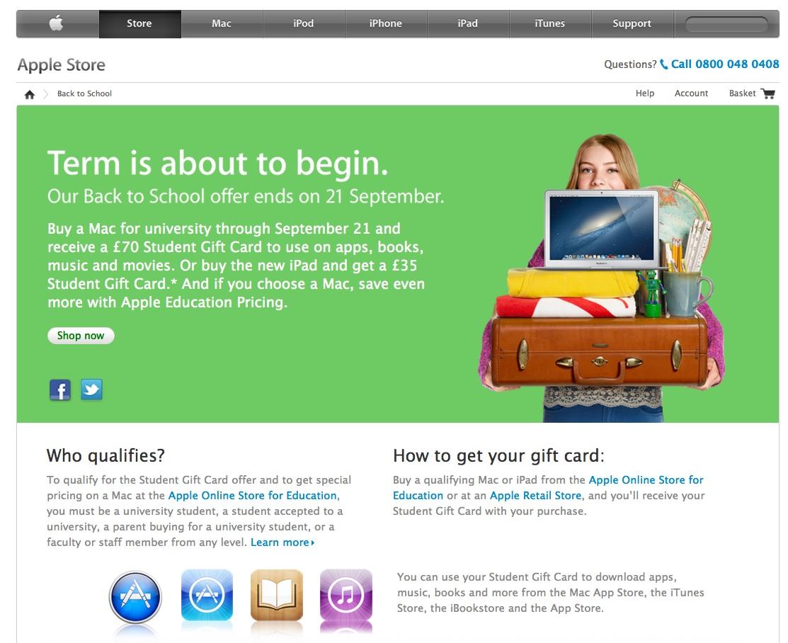 Blog-O-Sphere: Apple - Back to School (BTS) 2012