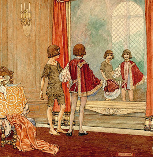 Illustration by Franklin Booth for the 1917 edition of The Prince and the Pauper