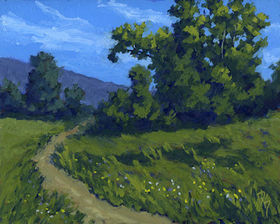 painting art nature green landscape outdoors