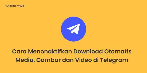 Cara Menonaktifkan Download Otomatis Media, Gambar dan Video di Telegram